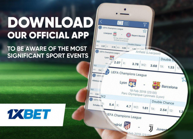 1xBet app iOS download